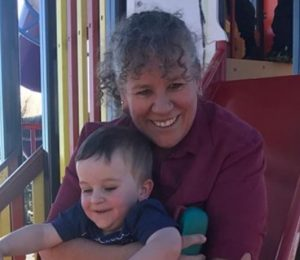 Jenny McWilliam with one of her grandson's Henry.